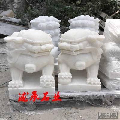 四川汉白玉玉石狮子