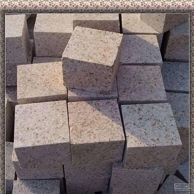 黃銹自然面小方塊石