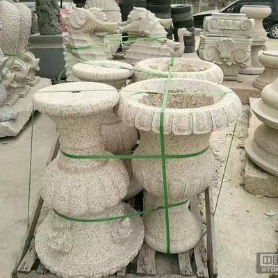 批发优质黄锈石花瓶花钵