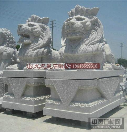 惠安花岗岩石雕狮子加工