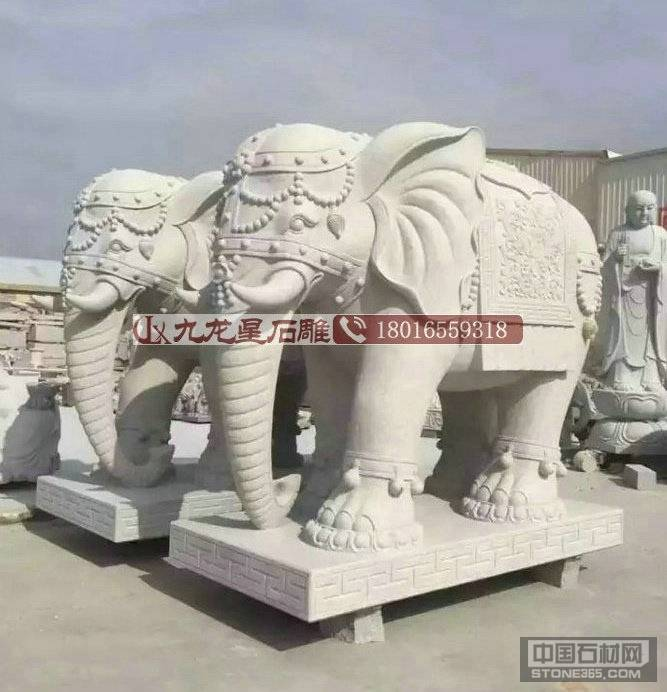 惠安花岗岩石雕大象加工