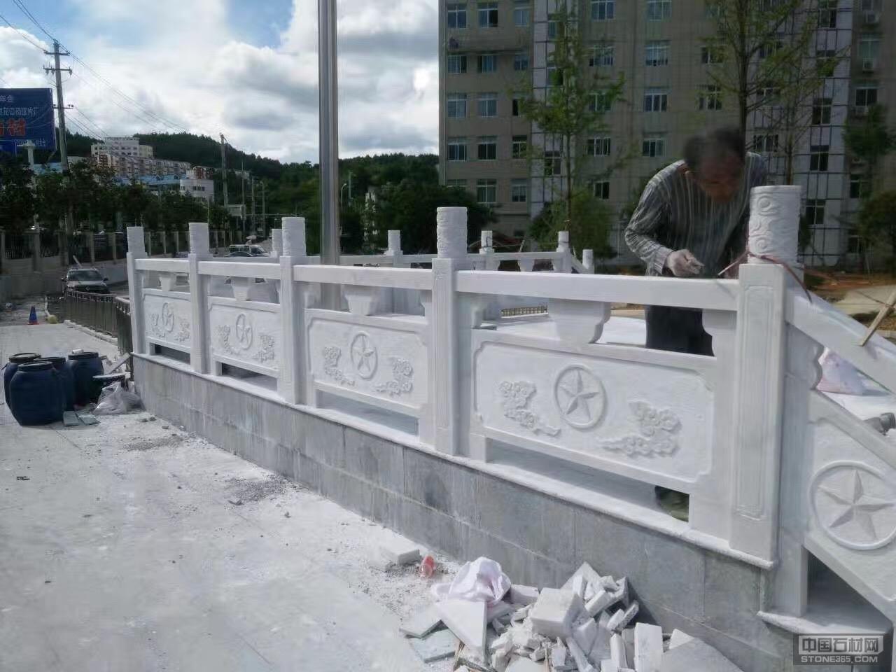 广西白石材栏杆