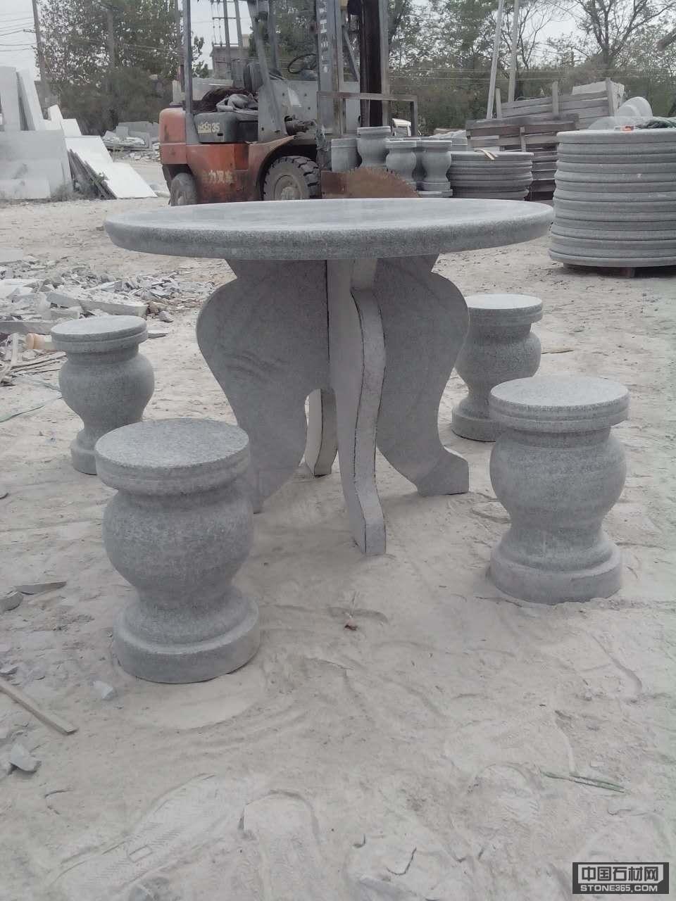 芝麻白石桌石椅