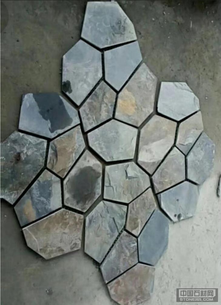 江西板岩冰裂纹青锈相间