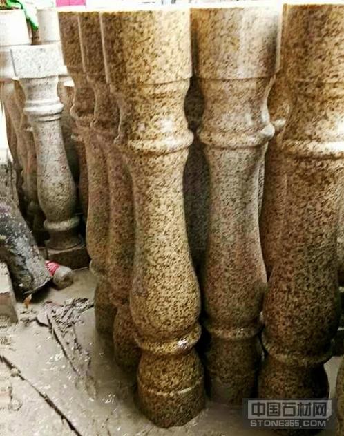 随州黄金麻花瓶柱石材异型