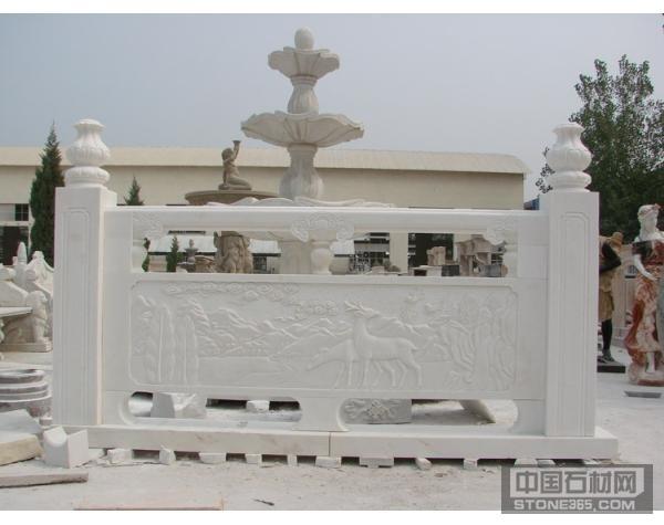 汉白玉栏杆雕刻