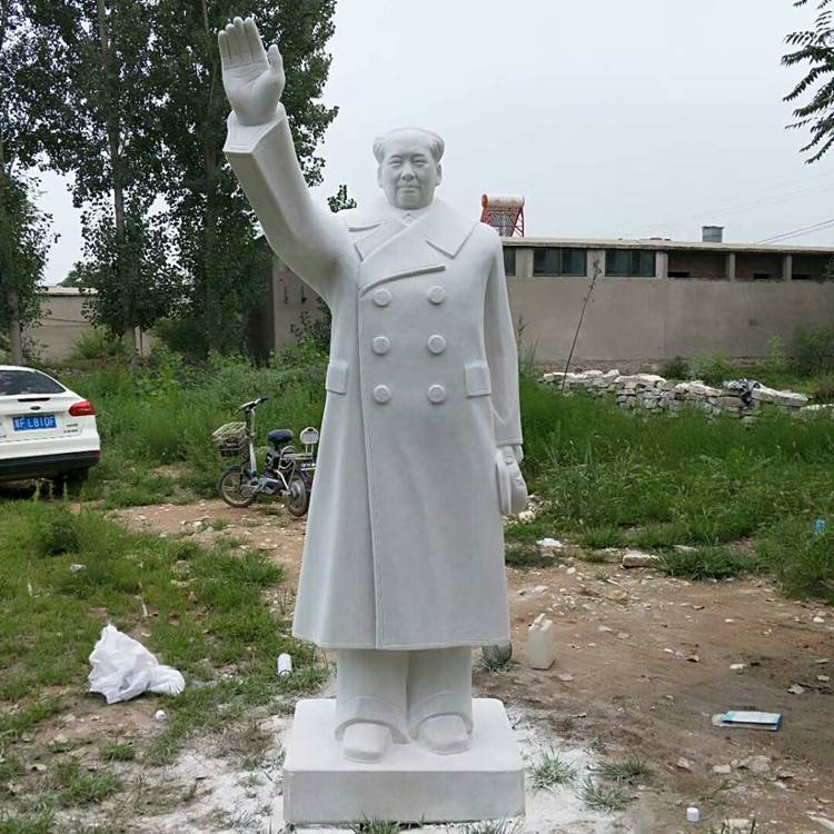 汉白玉3米毛主席挥手石雕像