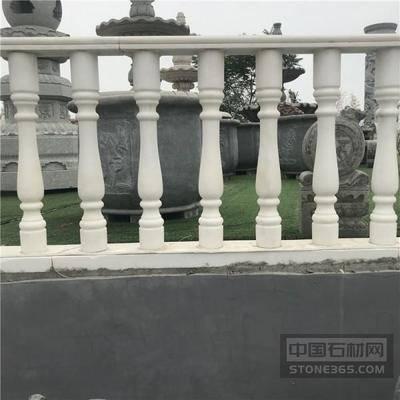 石雕阳台柱石头栏杆黄锈石花瓶柱