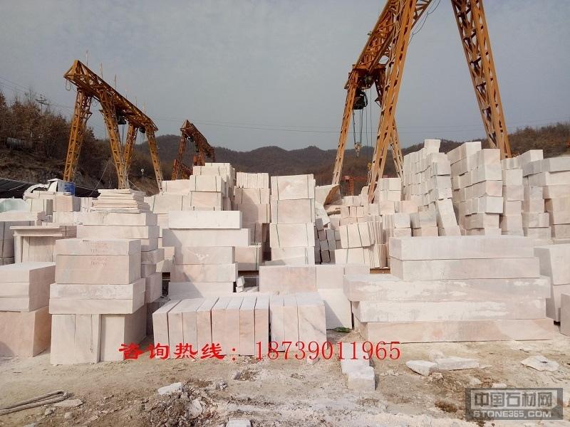 晚霞红大理石石材石料厂家批发