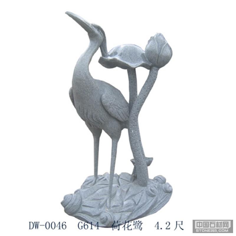 花岗岩仙鹤动物园林景观小区广场