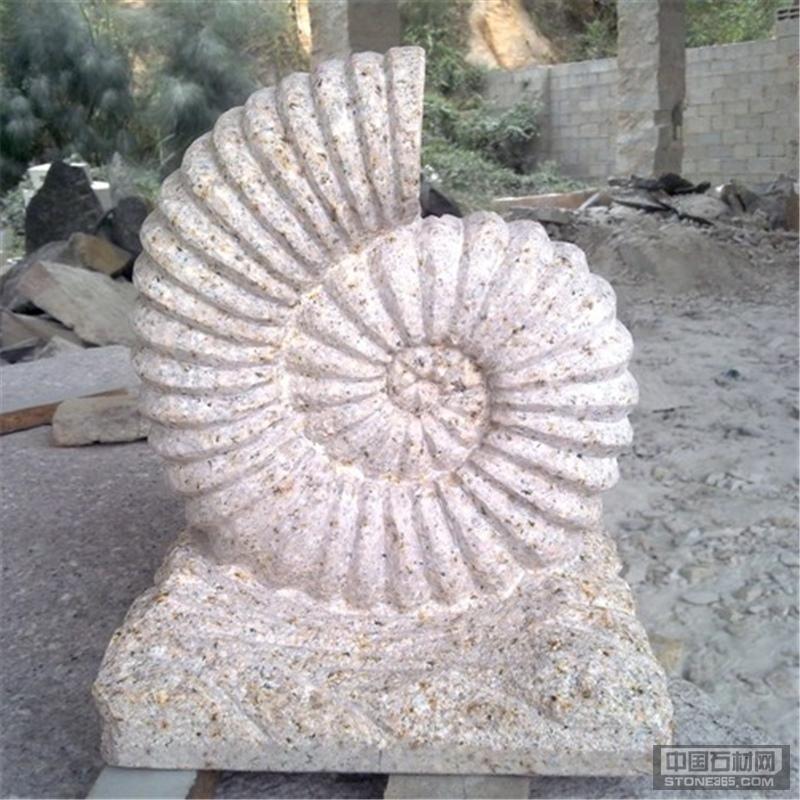 喷泉庭院园林水池花岗岩蜗牛