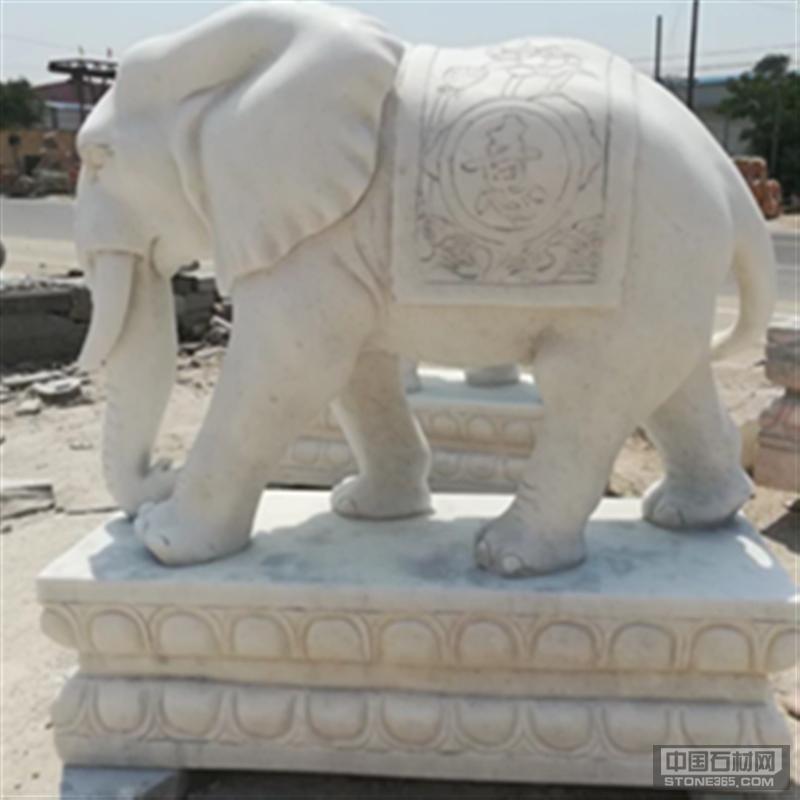 广场公园吉祥如意花岗岩招财大象