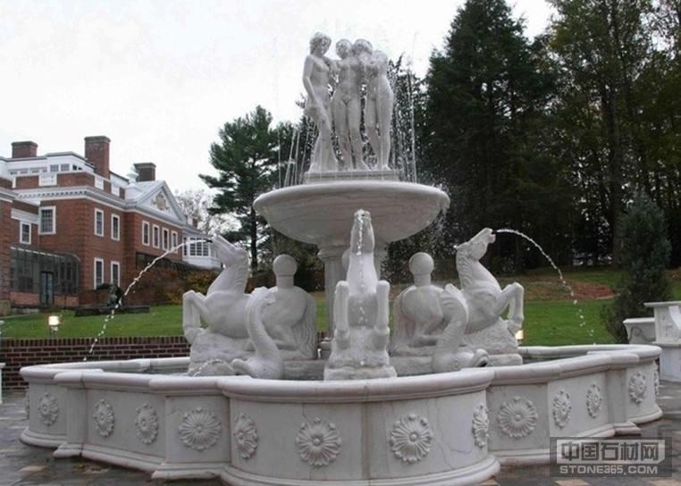 园林小区花岗岩石雕喷泉