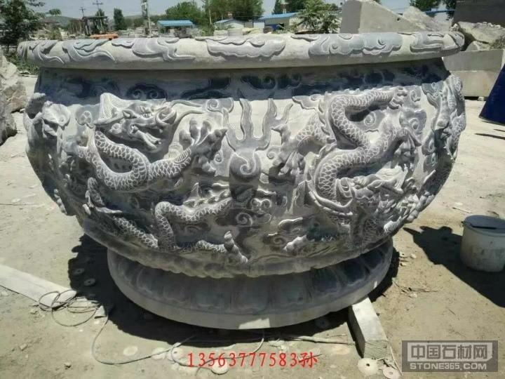 石雕龙纹水槽