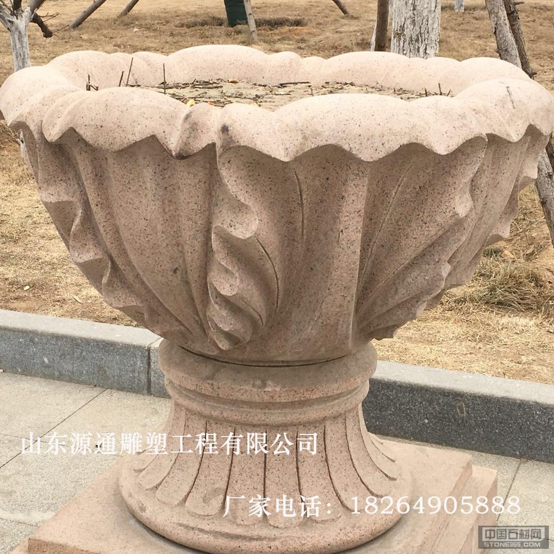 山东锈石花盆雕塑石雕