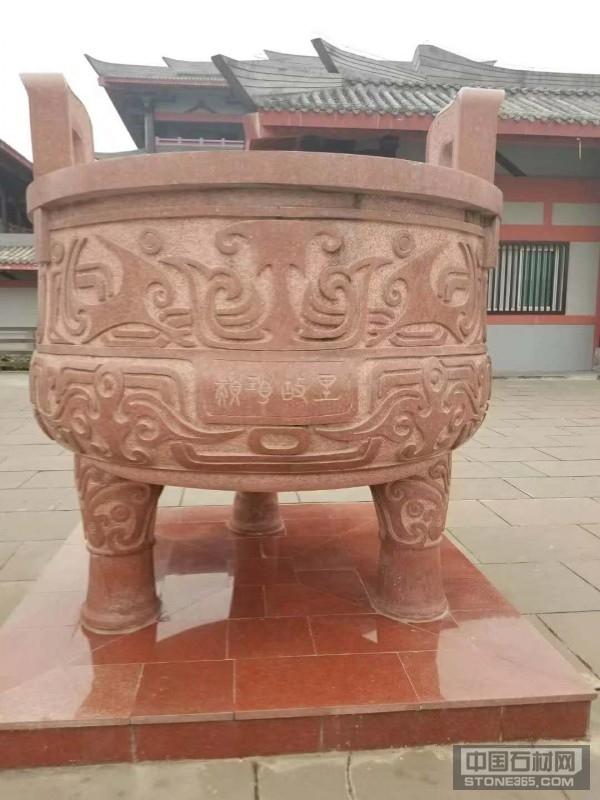 中国红四川红石雕