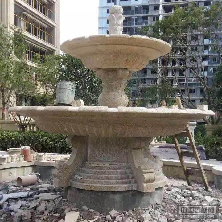 山东锈石花盆雕塑