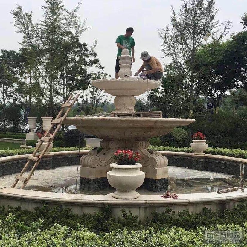 山东锈石水景花盆