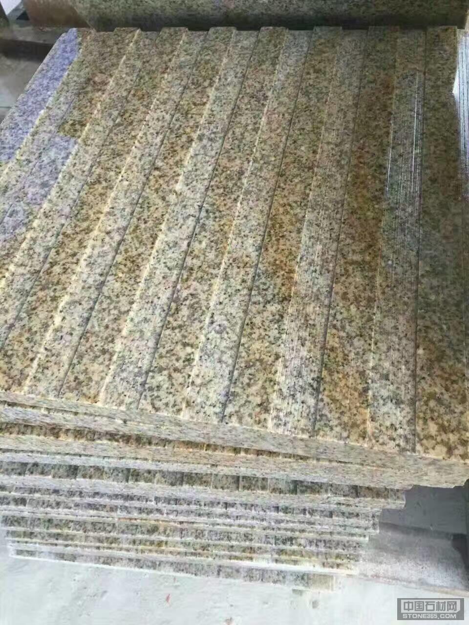 黄锈石条形盲道板