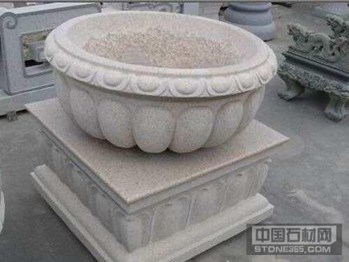 山东锈石花钵花盆景观石材