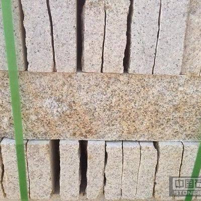 黄锈石石自然面成品