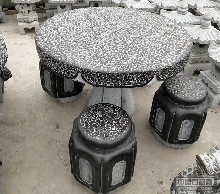 石凳石桌石抱鼓