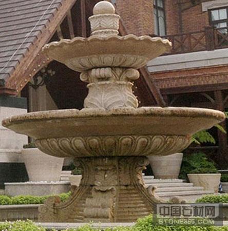 山东黄锈石喷泉