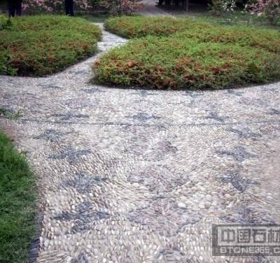 花园走道雨花石地面
