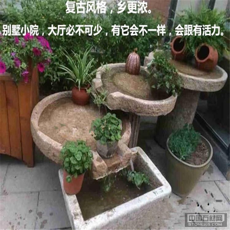 流水摆件,老石头,石槽,石盘