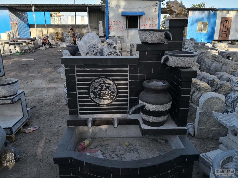 庭院流水摆件,新旧石槽,鱼缸