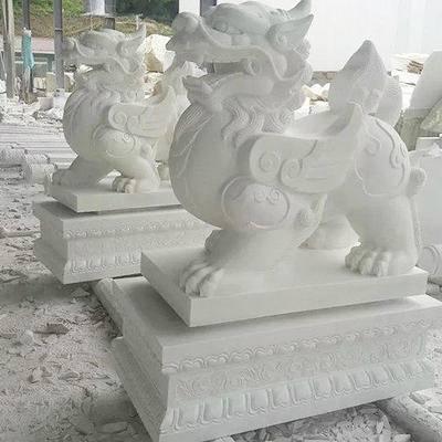 汉白玉貔貅雕塑