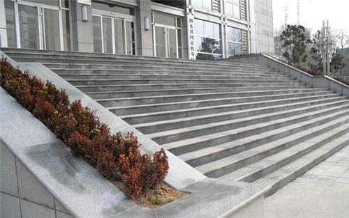 鲁灰石材台阶石