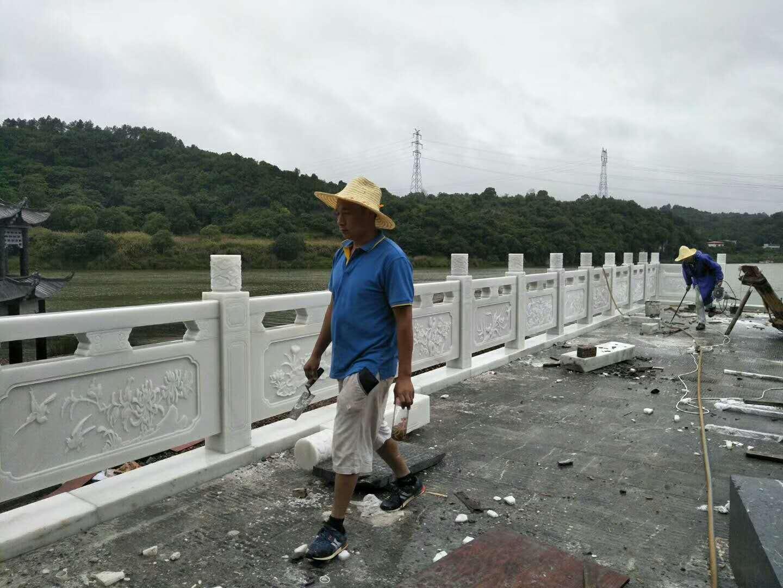 汉白玉中式栏杆栏板石雕
