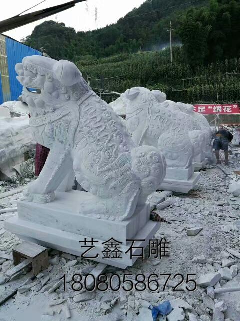 汉白玉石狮雕塑