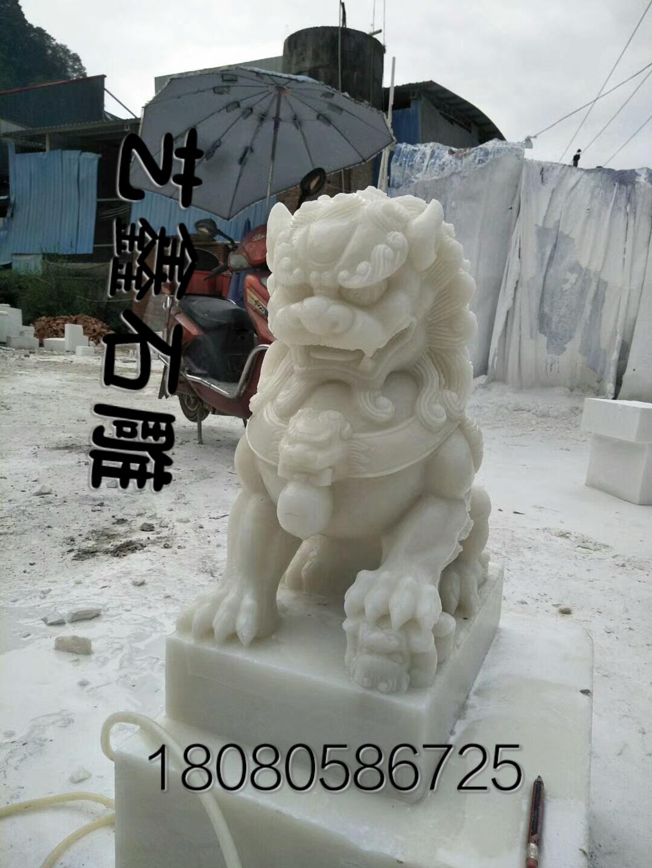 四川汉白玉大理石石狮子