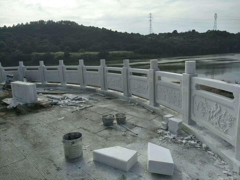 四川汉白玉中式栏杆栏板
