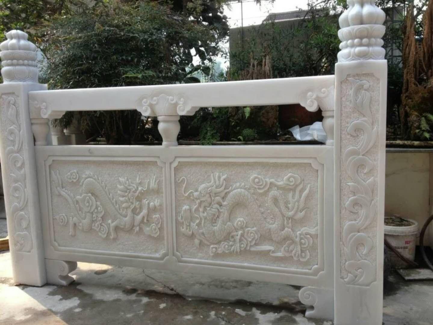 中式汉白玉栏杆栏板