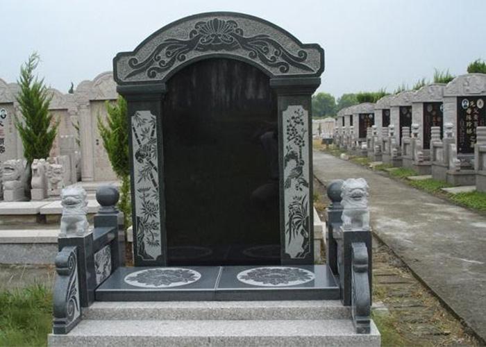 山东专业墓碑厂家沂蒙黑石材