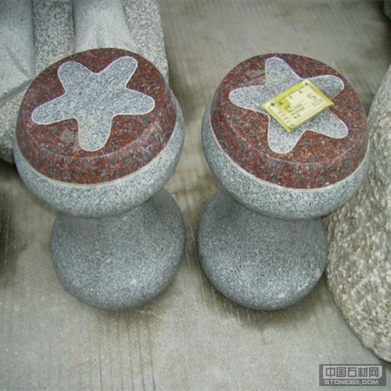 石雕椅子花岗岩卡通蘑菇造型石椅