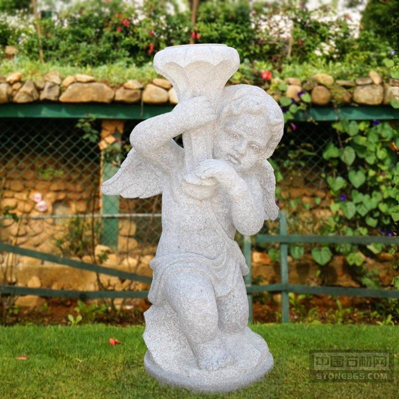 汉白玉西方人物雕像广场天使小孩