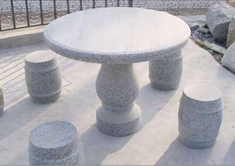 园林石桌石凳石椅石圆桌