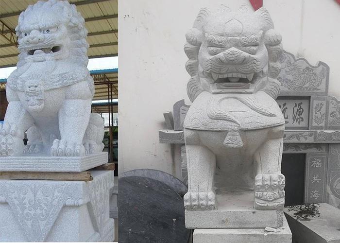 英山县芝麻灰石狮子雕刻