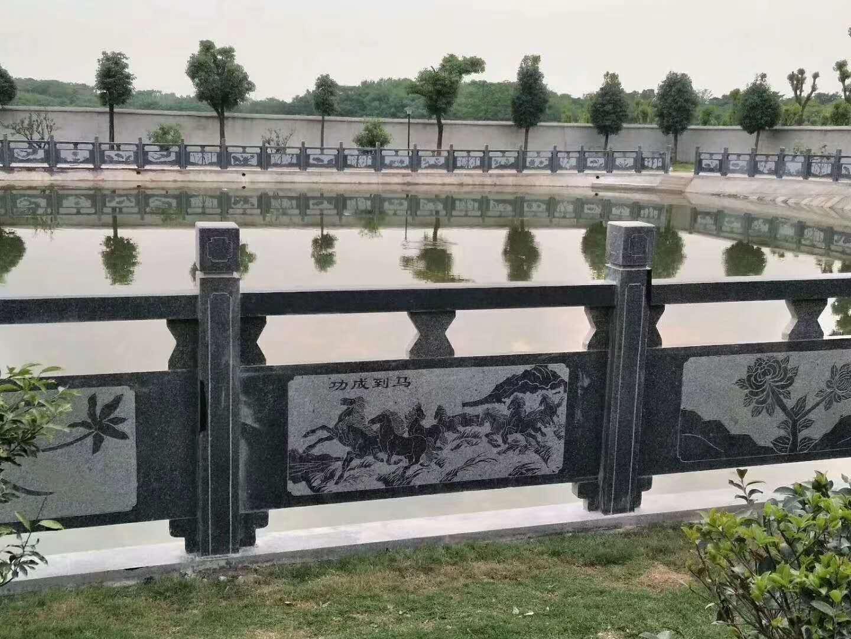 桥栏杆英山县芝麻灰石材河道栏杆