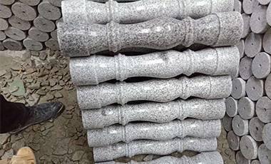 湖北芝麻灰花瓶柱子异型石材