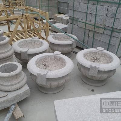 五莲石材石花盆