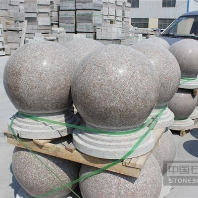 五莲红石材圆球