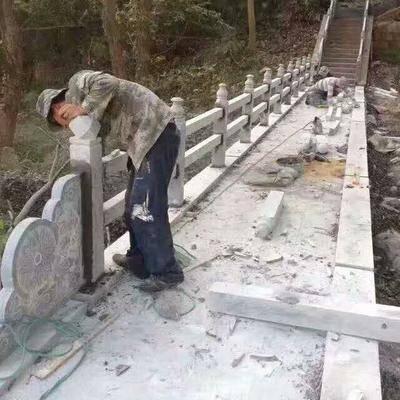 芝麻灰石材栏杆