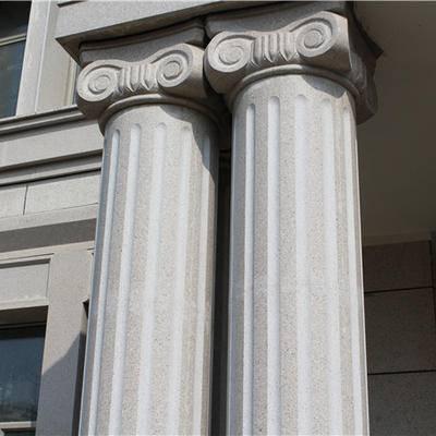 芝麻白圆柱干挂工程案例