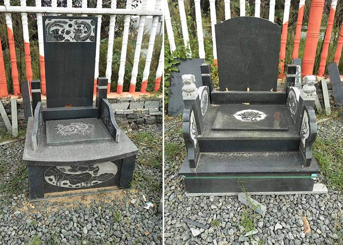 山东沂蒙黑石材墓碑