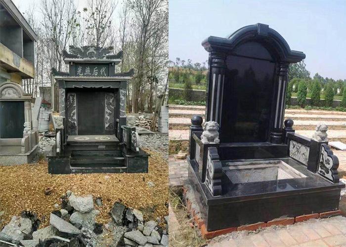 沂蒙黑黑石料墓碑
